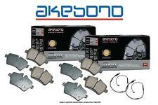 [FRONT+REAR] Akebono Euro Ceramic Disc Brake Pads + Sensors USA MADE AK100774