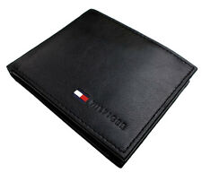 NEW TOMMY HILFIGER MEN'S PREMIUM LEATHER ID CREDIT CARD COIN WALLET 31TL25X020
