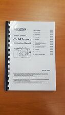 OLYMPUS OM-D EM1 MKII DIGITAL CAMERA INSTRUCTION MANUAL USER GUIDE 196 PAGES A5