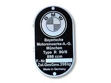 BMW R90/6 Typenschild Schild id plate