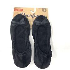 Deer Foams, Memory Foam Slippers, Ballet Bow Small 5-6 Black