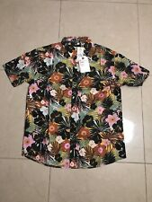 Evolution Floral Black Modern Shirt Size 5X