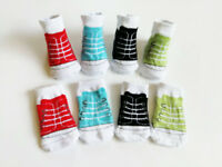 4 Pairs Unisex Colorful 0-6 Months Infant Baby Shoes shaped Ankle Socks