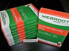 Webroot Internet Security Plus 2018 3 Devices 1 Year New Sealed
