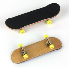 Complete Wooden Fingerboard Finger Skate Board Grit Box Foam Tape Maple Wood OJ