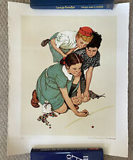 Norman Rockwell, Marbles Champion, ca. 1975 150/200 Limited Print Gold Signature