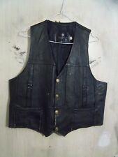 Vintage en cuir moto western cow boy gilet Taille Manteau sans Manches Veste Taille S