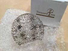 BNIB Treasure Tree -  Bling Crystal Votive Holder Plus Colonial Rose Candle