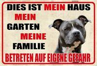 Vorsicht Hund mein Haus Blechschild Schild gewölbt Metal Tin Sign 20 x 30 cm