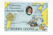 Sierra Leone - 1987 500th Anniversary Discovery of America by Columbus minisheet