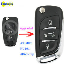 Upgraded DS Style Flip Remote Key for Ford Focus Mondeo Fiesta 433mhz 4D63 HU101