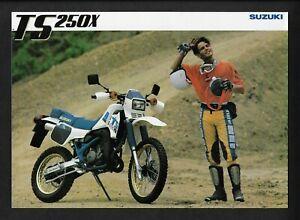 SUZUKI TS250X MOTORCYCLE BROCHURE