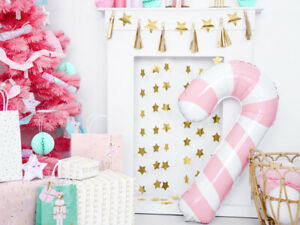 Pink Candy Cane Foil Balloon Christmas Party Decorations Kids fun Birthday Gifts