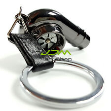 Spinning Fan Noise Real Sound Turbo Charger Keyring Keychain Boost Drift black