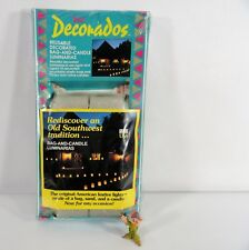 New Southwestern Art Decorados Reusable Luminarias 10 Count Bags & Candles