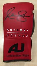 Anthony Joshua Signed Boxing Glove RARE LIMITED EDITION PROOF AFTAL COA (A)