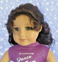 Imsco CASSIE Dk Brown Full Cap Doll Wig SZ 12-13  Long, Curly Ponytail, Bangs