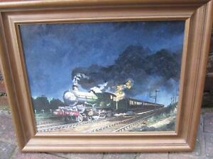 Alan King Great Western Railway Steam TraIn no 5000 Signed  Framed Oil Painting