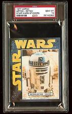 ARTOO DETOO R2D2 1977 Star Wars ADPAC General Mills Cereal Sticker  PSA 10 POP 2