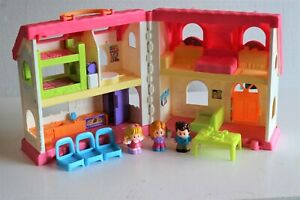 Fisher Price Little People Surprise & Sounds Home Dollhouse Pink House w/Figures