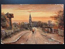 London ENFIELD St Marys Church & Old Wind Mill c1906 by S. Hildesheimer 5428