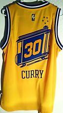 Adidas Swingman 2015-16 Jersey Golden State Warriors Stephen Curry Gold HWC sz S