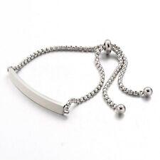 Ladies Stainless Steel ID Plate Bracelet