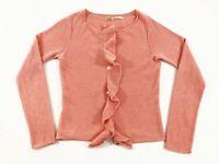 Max Studio Womens 100% Cashmere Cardigan Sweater Pink Size XS