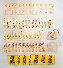 Lot 60 Tally Cards Bridge Game Tally Place Cards Baby Kitten Bear