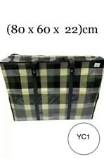 Medium (M) Laundry Bag Moving Strong Shopping Storage Reusable Zip (80x60x22)cm
