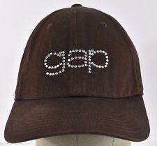 Brown GAP Girls Rhinestones letters baseball hat cap adjustable strap