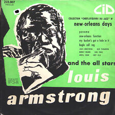 """LOUIS ARMSTRONG And The All Stars FR Press CID AM 233 007 25 Cm/10"""""""