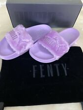 PUMA FENTY RIHANNA FUR SLIDES SCUFFS SLIPPERS SIZE EUR 38 NEW IN BOX AUTHENTIC
