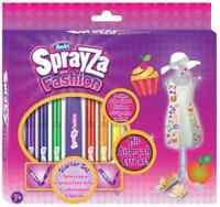 SprayZa Fashion by RenArt Starter Set mit Airbrush-Effekt 13tlg. Textil-Stifte