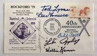 Multi Signed (6) Six Baseball Rockford '79 Cachet— Lyons, Appling