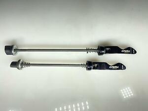 Oval Concepts Front / Rear Universal Quick Release QR Bike Skewer Black Set New