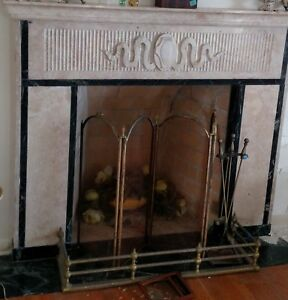 VINTAGE MARBLE FIREPLACE SURROUND disassembled for easy SHIPPING!!!