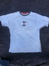 Vintage 90s Tommy Hilfiger Spellout Logo Baby Blue T Shirt Top