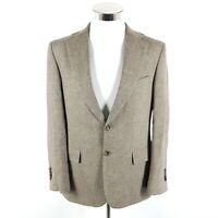 Windsor Sartorial Tweed Sakko Herren 48 Grau Wolle Kaschmir Knöpfbare Manschette