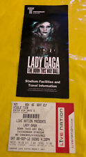 LADY GAGA Ticket Stub & Supplement 'Born This Way Ball 2012' Twickenham Stadium