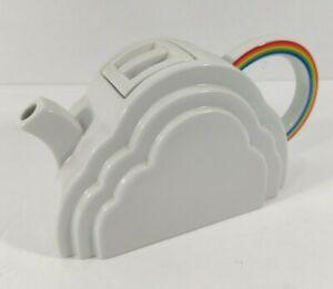 Rare Vintage 1970's Rainbow Cloud Tea Pot Deco Mod Vandor Pride LGBTQ +