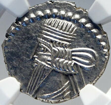 PACORUS Authentic Ancient PARTHIA KINGDOM Silver Greek Coin Archer NGC MS i82629