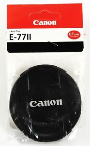 77mm E-7711 Center-Pinch Snap-On Front Lens Cap for Canon