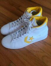 Converse Pro Leather Hi white amarillo sz 11.5