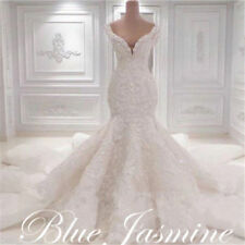 New Mermaid Sleeveless Wedding Dress Bridal Ball Gown Custom Made Plus Size 2-28