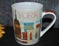 NEW PRIMA DESIGN  Coffee/Tea MUG  NEW YORK  CITYSCAPE 14 oz Colorful Porcelain
