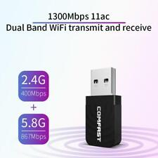 COMFAST USB 3.0 Wireless Network Card 1300Mbps WiFi Dongle Adapter 802.11 b/g/n