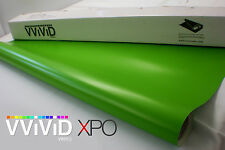 "Vvivid 3mil Lime Green Matte 3"" x 4"" sample vinyl car wrap decal"