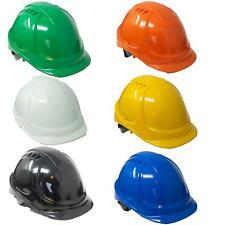 Black Vented Safety Helmet Helmets Hard Hat Sweatband Builders Work