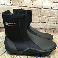 Cressi Isla 5 mm Mens Black High Top Diving Shoes Size 11